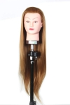 RITZKART Imported Synthetic Hair practice Dummy Feel Natural human soft Hair dummy for Practice/Cutting / styling mannequin For Trainers (dark golden dummy)