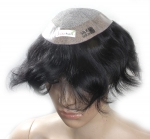 Ritzkart USA Silk Base 9x7 hair Patch/ Men Toupee/Gents Wig 100% Human Hair