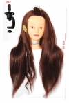 Ritzkart Processed Human Hair Dummy Can Be Tong/Curly/Washble/Any Type Styling size 29 inch 200 gram medium healthy hair brown silky texture hair