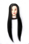 31 inch Long Silky Black Hair / Makeup / Styling/ Cut, dummy for For Trainers