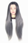 Ritzkart 31 inch Synthetic Hair practice Dummy Feel Natural Hair Black & Gray Mix Color for trainers