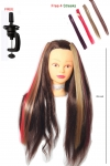 Ritzkart Processed Human Hair Dummy Can Be Tong/Curly / Washble/Any Type Styling size 29 inch 200 gram medium healthy hair brown silky texture hair get free 4 color streaks