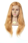 Ritzkart IMPORTED brand 27-29 inch long heavy & soft Hair Dummy ,100% Real Human Blonde Hair + high temperature Training Head With Shoulder High Grade Hairdressing Head Dummy