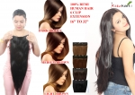 Ritzkart 6 Clip Fine Quality (28 Inch, Natural Black) Remi Human Soft Hair Extension 16 to 32 Inch