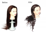 Ritzkat 50% Fiber Heat Original Hair Dummy 30 inch Long Soft & 220c Degree tasted Brown hair For Curly/Styling / Practice