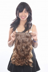 Ritzkart 22 Inch Women Half hi quality Synthetic hair extension (ExGoldBr7040)