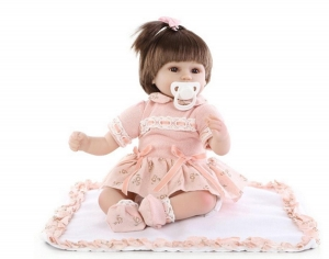 45 to 50 cm New Born Baby Dolls Soft Reborn Skin Care baby Menina Children Best Gift Silicone playmate Dolls For Kids Handmade doll (babydoll)