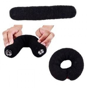 Ritzkart imported high brand black hair donut clip for more fashionable style