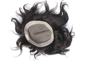 Ritzkart 9x7 Hair toupee/Patches/Systems/Wigs for Men 100% Monofilament Regular Natural Human Hair Black Men's Hair Patch