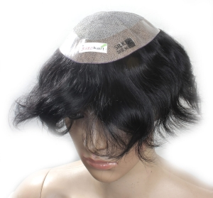 Ritzkart 100% Human Hair USA Silk Base 7x5 hair Patch/Men Toupee/Gents Wig