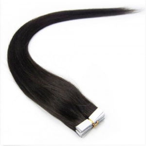 Ritzkart 22 inch Black Real Human Hair Tape Extensions For Women (all size available in each hair type & length)