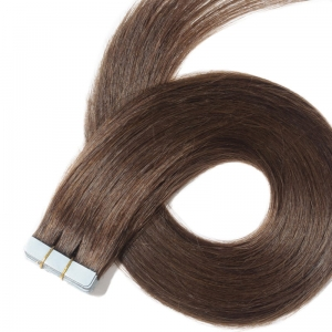 Ritzkart 30 inch Dark Brown Real Human Hair Tape Extensions For Women (all size available in each hair type & length)