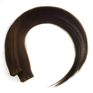 Ritzkart 24 inch Dark Brown Real Human Hair Tape Extensions For Women (all size available in each hair type & length)