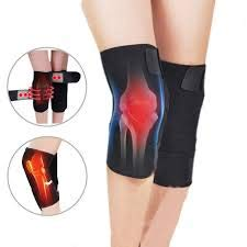 RITZKART 2 Pc Magnetic Therapy Knee Leggings Brace Warm Support Knee Pads Adjustable Knee Massager Health Care Specification:free size