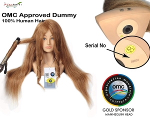 "OMC Approved International Dummy 30"" Blond Shoulder Hair Dummy,100% Human Hair Seminar/Competition Doll Head Hairdressing Mannequin For Training/Practice, With Original Brand Tags & Serial Code"