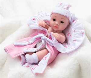 Baby Doll,100 % Imported Cute Baby Dolls Soft Silicone Skin Care New Born Baby Children Best Gift Playmate Dolls for Kids {10 inch}