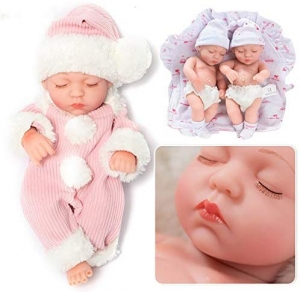 Baby Doll,100 % Imported Cute Baby Dolls Soft Silicone Skin Care New Born Baby Children Best Gift Playmate Dolls for Kids {10 inch} Sleepy Baby