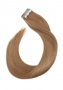 Human Hair 100% 25Inch Golden Brown tape in Straight Hair Extensions 1Setof20Pc quality by RITZKART