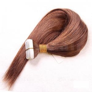 Human Hair 100% 25Inch Dark Brown tape in Straight Hair Extensions 1Setof20Pc quality by RITZKART