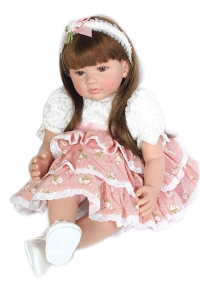 "RITZKART 100% Realistic Silicon Skin Care 1 Year Baby Doll Lifelike Soft Vinyl Princess Playmate 24"" Baby Doll for Gifts"