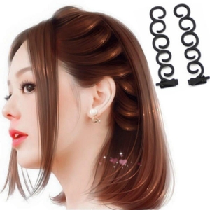 RITZKART 2PC Women Fashion Accessories Hair Styling Clip Stick Bun Maker Braid Hair tool