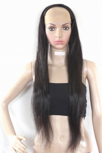 "Ritzkart 28"" Indian Dark Brown Remi Virgin Hair 100% Human Hair Extension ( Half Wig )"