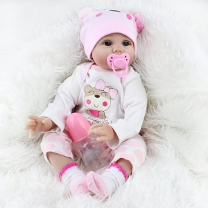 45 to 50 cm New Born Baby Dolls Soft Reborn Skin Care baby Menina Children Best Gift Silicone playmate Dolls For Kids Handmade doll