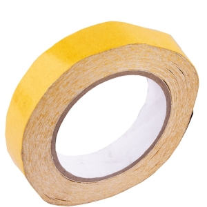 RITZKART Double sided transparent Tape For Attach Hair Patch/Wig (10mm x 30 meters) (Yellow)