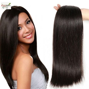 RITZKART 100% UNPROCESSED BRAZILIAN STRAIGHT REMY HAIR WEFT 30 INCH LONG DARK BROWN HUMAN HAIR EXTENSION WEAVES 1 BUNDLE 50 GM (single drawn)