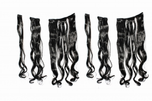 Ritzkart 6pc multi CURLY Extension silky &natural feeling black
