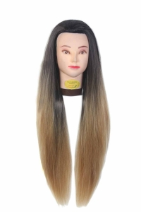 Ritzkart 31 inch Synthetic Hair practice Dummy Feel Natural Hair golden black & Mix Color hair for trainers