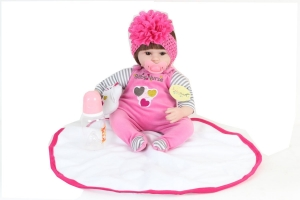 42 to 45 cm New Born Baby Dolls Baby Reborn Menina Children Best Gift Silicone Reborn Baby playmate Dolls For Kids Handmade Princess Bonecas