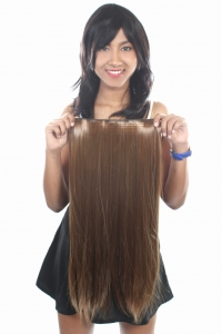 Ritzkart 22 Inch Women Half hi quality Synthetic hair extension (ExGoldBr4305)