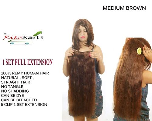 60da6705221 RITZKART 100% Remy Human Hair Extensions 24